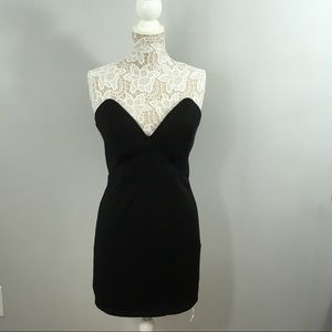Forever 21 Black Strapless Dress